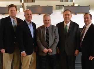 MMED's Board of Commissioners L to R: Steve Schoonveld, Neil Rhein, Jess Aptowitz, Frank DelVecchio, Michael Trowbridge